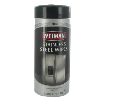 Weiman 50A Stainless Steel Wipes 30 Count Package
