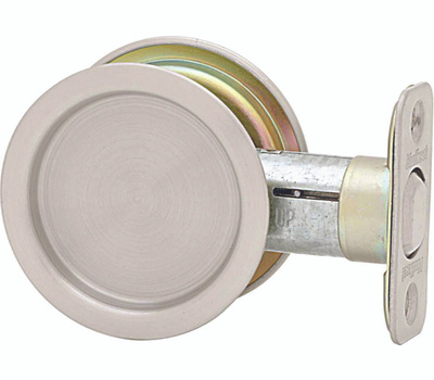 Kwikset 334 15A RND Pocket Door Passage Round Pocket Door Pull Antique Nickel
