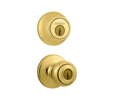 Kwikset 690P 3 CP K6 Polo Keyed Entry And Single Cylinder Deadbolt Polished Brass