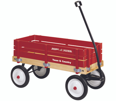 Radio Flyer 24 Town And Country Wood Toy Wagon