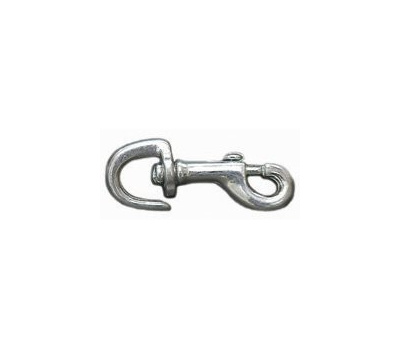 Baron 2255B Bolt Snap 3/4 Inch Swivel Open Eye 3-1/8 Overall Nickel Plated Bronze