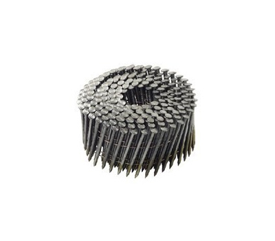 National Nail 0616690 Pro Fit Wire Coil Framing Nails 3-1/4 Inch By 0.121 Smooth Shank 15 Degree 2500 Pack