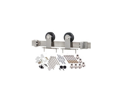 Renin BD101K-96 Decorative Top Mount Interior Barn Door Hardware Kit 96 Inch Stainless Steel