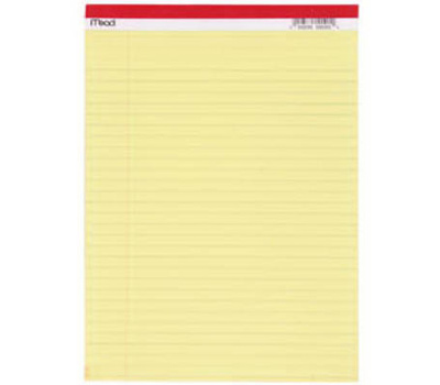 Mead 59610 50 Ct 8 1 2 By 11 Legal Pad Case Of 12