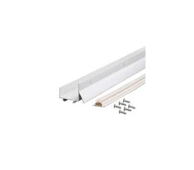 Md Building Products 06403 White Aluminum And Vinyl Drip Cap With Door Bottom Sweep 043374064032 1
