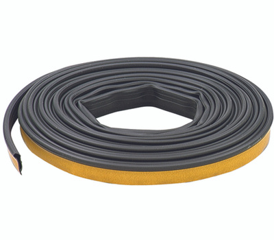 MD Building Products 68668 Silicone Door Gasket 1/2 Inch Wide By 1/4 Inch High By 20 Feet Black