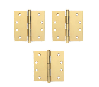 Schlage Lock SC3P1020F-605E 4 Inch Square Corner Template Hinge Pack Of 3 Bright Brass