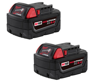 Milwaukee 48-11-1822 M18 High Capacity Red Lithium Battery 2 Pack