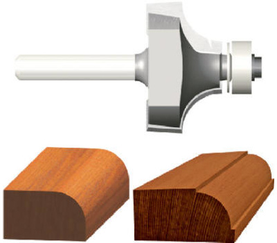 Vermont American 23139 Silver Series 1/4 Inch Cove Router Bit