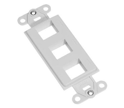 Tyco Electronics CPGI-1116616-3 3 Port Media Jack Strap For Decor Plates White