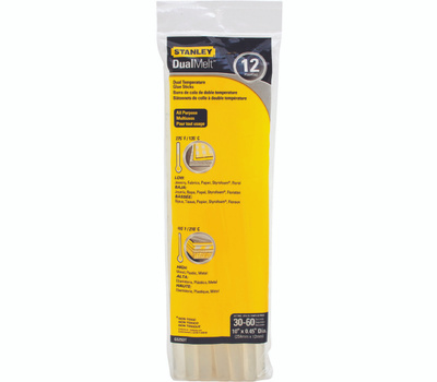 Stanley Tools GS25DT Dualmelt Glue Stick Standard 10In 12Pk 12 Pack