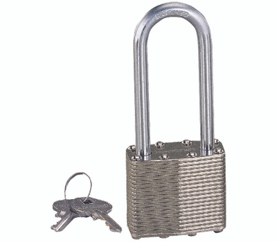 ProSource HD00020L Laminated Steel Padlock 1-1/2 Inch With 2 Inch Shackle