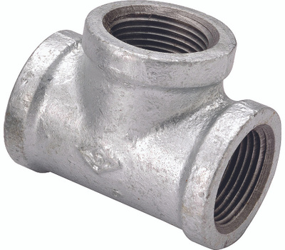 WorldWide Sourcing 11A3/4X3/4X1/2G Galvanized Malleable Tee 3/4 By 3/4 By 1/2 Inch