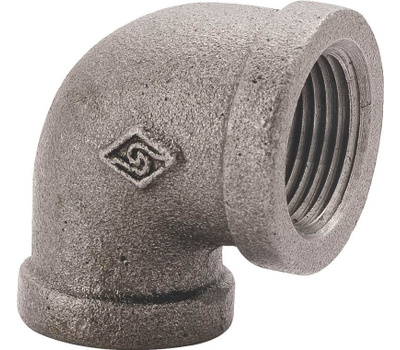 WorldWide Sourcing 2A-3/8B 3/8 Inch Black Pipe 90 Degree Elbow