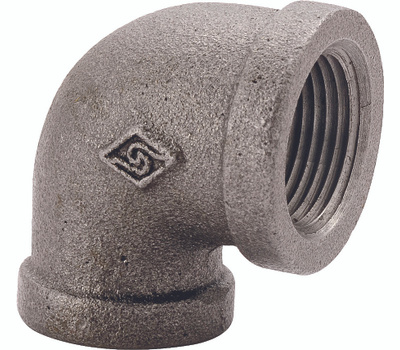 WorldWide Sourcing 2A-1B 1 Inch Black Pipe 90 Degree Elbow
