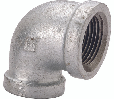 WorldWide Sourcing 2A-2G 2 Inch Galvanized 90 Degree Elbow