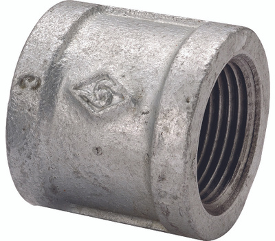 WorldWide Sourcing 21-2G Galvanized Malleable Coupling 2 Inch