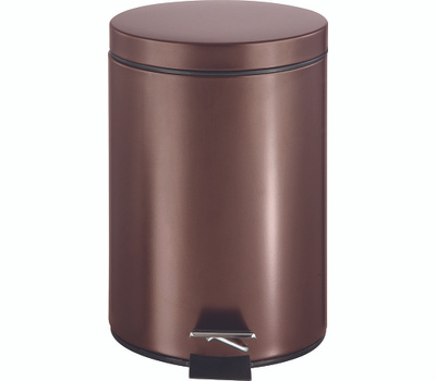 Simple Spaces LYP0701 Trash Can Step Round 7 Liter Venetian Bronze