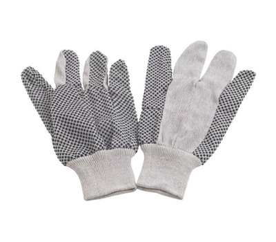 DiamondBack GV-522PVD/8-DB White Cotton Gloves With Black Pvc Grip Dots One Size 6 Pair