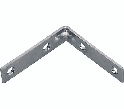 ProSource CB-S02-C4PS Corner Braces 2 By 5/8 Inch Brass Finish Steel 4 Pack