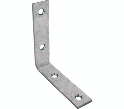ProSource CB-G025-C4PS Corner Braces 2-1/2 By 5/8 Inch Galvanized Steel 4 Pack