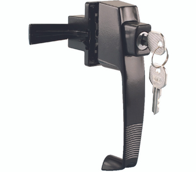 ProSource 47020-UK-PS Storm And Screen Door Latch Push Button Keyed Black