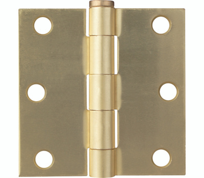ProSource BH-BS03-PS Door Hinge Square 3 By 3 Inch Satin Brass
