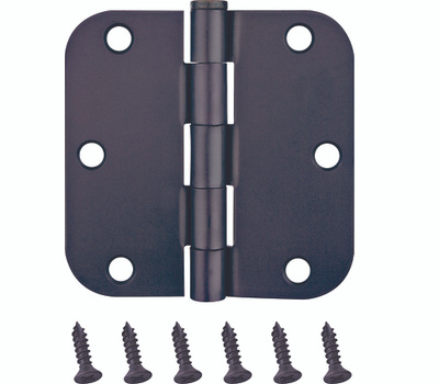 ProSource BH-102ORB-PS Door Hinges 5/8 Radius 3-1/2 By 3-1/2 Inch Oil Rubbed Bronze 2 Pack