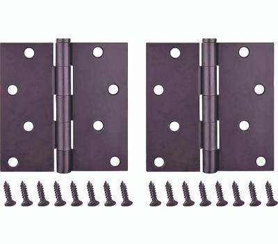 ProSource BH-502ORB-PS Door Hinge Square 4 By 4 Inch Oil Rubbed Bronze 2 Pack