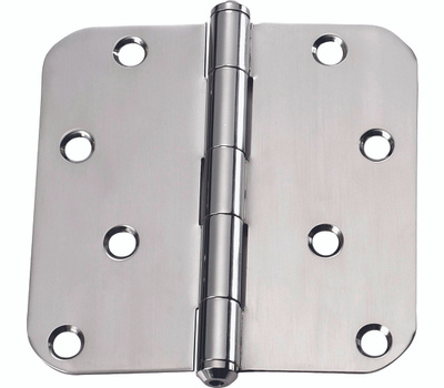 ProSource DH-S606-PS Door Hinge 4 By 4 Inch 5/8 Radius Polished Stainless Steel