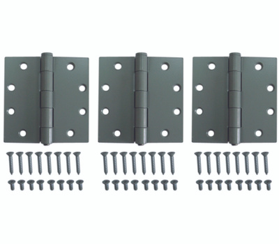 ProSource LR-017-PS Commercial Door Hinge 4-1/2 By 4-1/2 Inch Template Pattern Gray Square