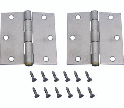 ProSource 20338MGS-PS Door Hinges Square Corner Galvanized 3-1/2 By 3-1/2 2 Pack