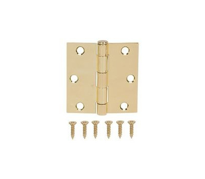 ProSource LR-705-PS Door Hinge Square Corner Polished Brass 3 Inch
