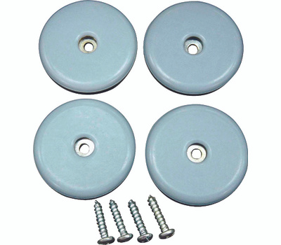 ProSource FE-S202-PS Furniture Slide Glides With Screw 2 Inch 4 Pack
