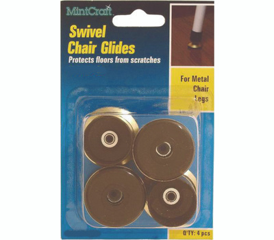 ProSource FE-51143-PS Glide Swivel Chair 3/4 Inch Brass 4 Pack