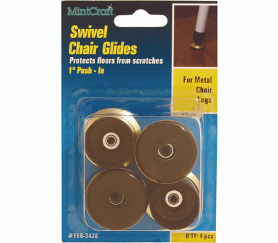 ProSource FE-51145-PS Glide Swivel Chair 1 Inch Brass 4 Pack
