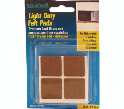 ProSource FE-50218-PS Pad Felt Light Duty 1 By 1 Inch 12 Pack
