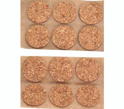 ProSource FE-50700-PS Self-Adhesive Cork Furniture Pad 1/2 Inch Round 24 Pack