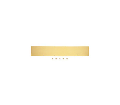 ProSource 32293BBD-PS 8 By 34 Inch Anodized Aluminum Kick Plate Bright Brass Finish