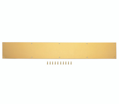 ProSource 32303BBD-PS 6 By 30 Inch Anodized Aluminum Kick Plate Bright Brass Finish