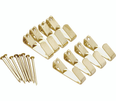 ProSource PH-122304-PS Picture Hanger 50 Pound Polished Brass 3 Pack