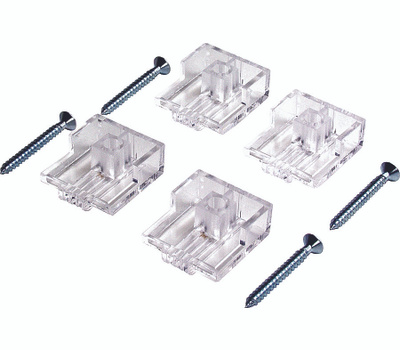 ProSource PH-122201-PS Mirror Holder Heavy Duty 1/4 Inch With Anchors 4 Pack