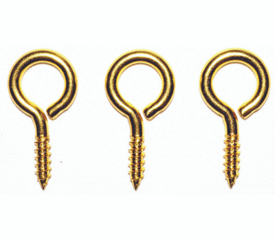 ProSource LR-240-PS Screw Eyes Large Brass 17/32 By 1-15/16 3 Pack