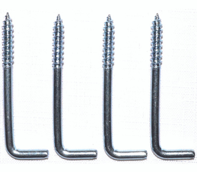 ProSource LR-397-PS Square Screw Hook 2-1/4 Inch Zinc Plated 4 Pack
