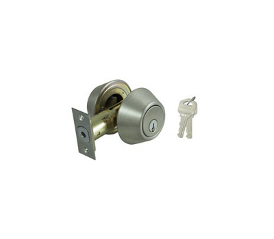 ProSource DB62V-PS Residential Deadbolt Double Cylinder 6 Way Latch Stainless Steel KA3