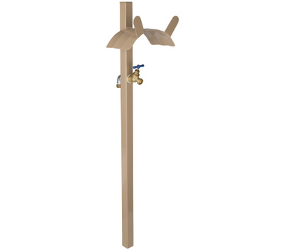 Landscapers Select HH-693 Metal Hose Stand With Bib Tan
