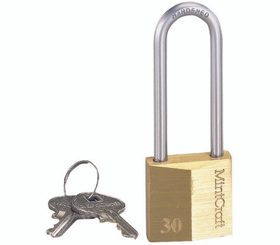 ProSource HD10032 1-1/4 Inch Solid Brass Padlock With A 2 Inch Shackle