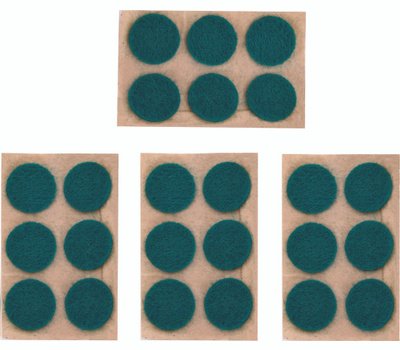 ProSource PH-122294 Mintcraft Self-Adhesive Felt Pads 24 Pack+