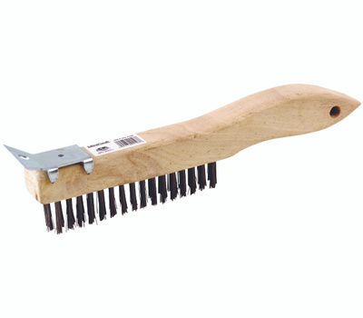ProSource WB01416S Wire Brushes Shoe Handle With Scraper 4 By 16 Row