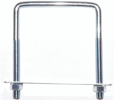 ProSource LR356 Square U-Bolt Zinc Plated Steel #675 3/8 By 4 By 5 Inch